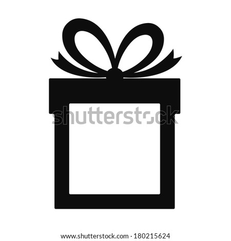 Paper gift with place for your text - stock photo