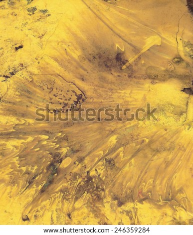 Paper Handmade Melting Gold Abstraction - stock photo