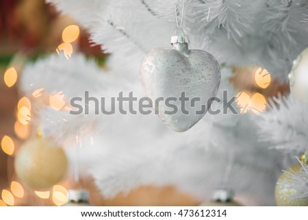 Paper heart Christmas decoration