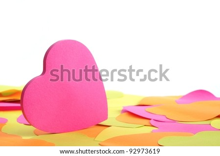 Paper heart with white backcloth