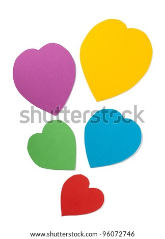 Paper hearts. Path included. - stock photo