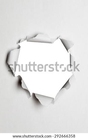 Paper, hole - stock photo