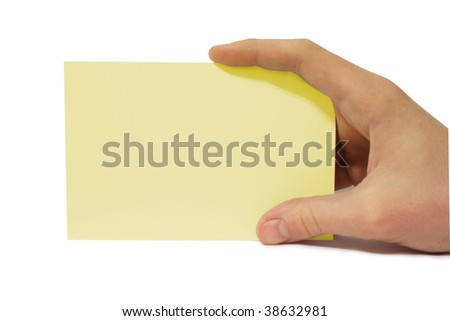 Paper in a hand