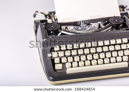 paper in typewriter with I Love You!!! as a text