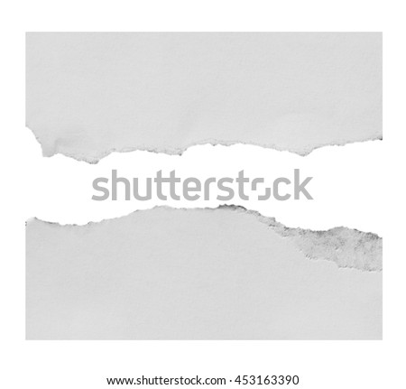 paper isolated on white background with clipping path.