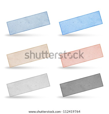 paper label by recycled paper. - stock photo