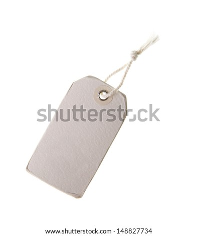 paper labels or tag with strings