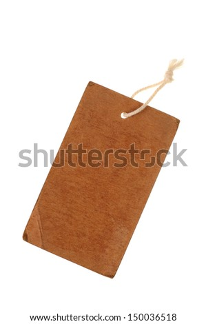 paper labels or tag with strings - stock photo