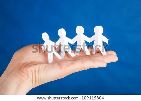 Paper man - stock photo