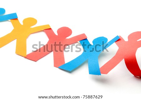Paper Men - stock photo