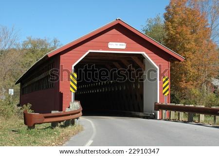 Paper Mill Bridge, Vermont - stock photo