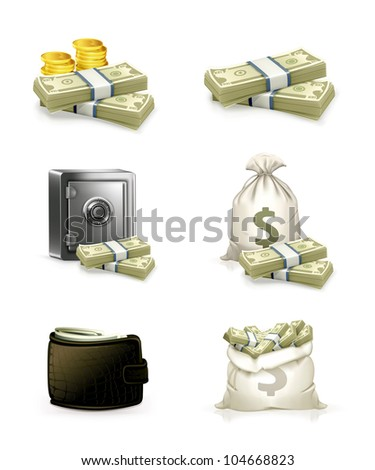 Paper money set, bitmap copy