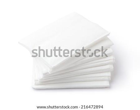 paper napkins - stock photo