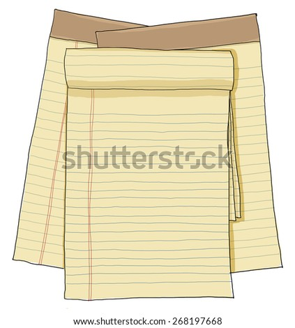 paper note vintage , paper sheets, lined paper - stock photo