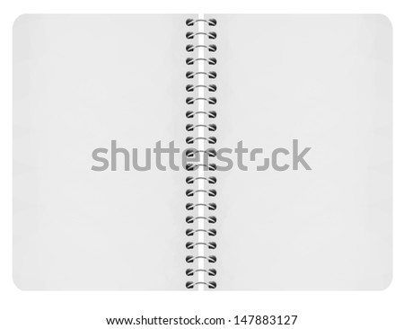 paper notebook on white