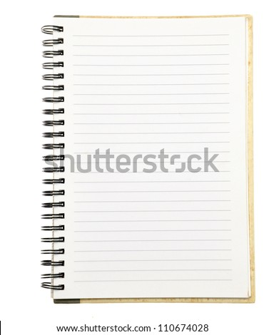 paper notebook right page - stock photo