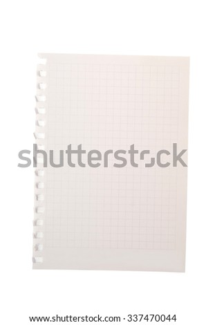 paper notepad isolated - stock photo