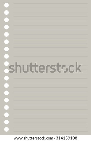 paper notepad. striped - stock photo