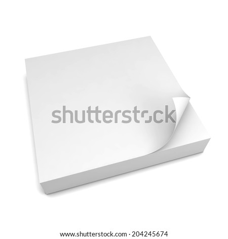 Paper notes. 3d illustration isolated on white background  - stock photo