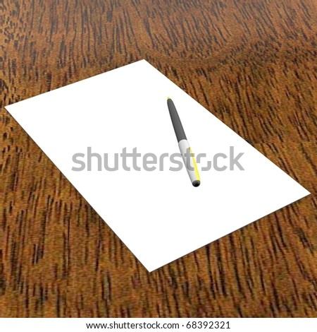 Paper on the table