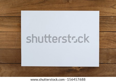 Paper on wood  - stock photo