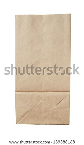 Paper package isolated on a white background.