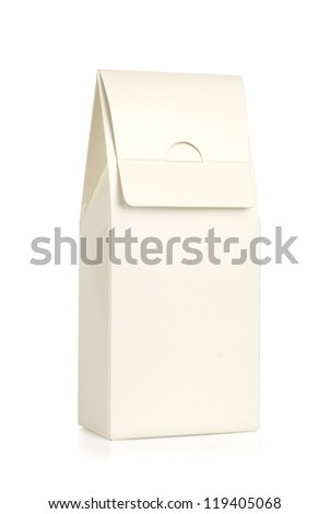 Paper package isolated on white.