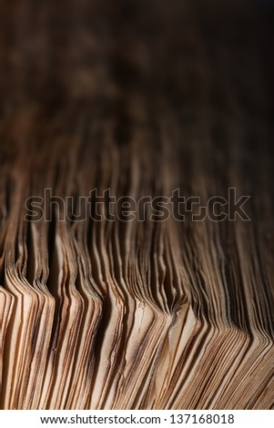 paper pages background, old book - stock photo