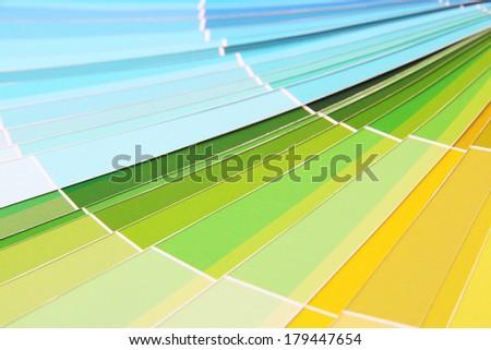 Paper palette close up - stock photo