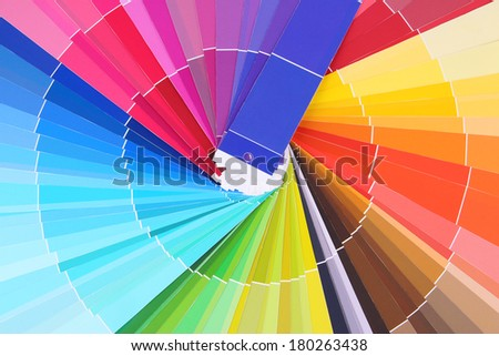 Paper palette close up - stock photo