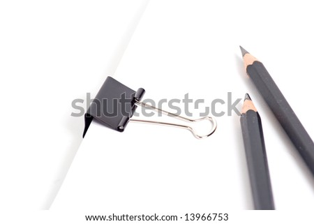 Paper, pencil and clip supplies