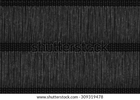 Paper Plaited Place Mat, Stained Charcoal Black, Woven, Creased, Grunge Texture Sample.