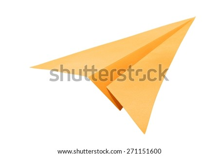 Paper, plane, childhood. - stock photo
