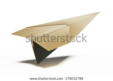paper plane on white background. clipping path included - stock photo