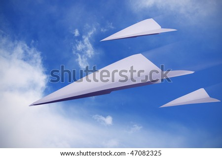 paper planes flying representing freedom