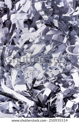 paper pulp, symbolic photo for data destruction, documentation and legacy - stock photo