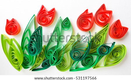 Paper quilling colorful paper flowers stock photo royalty free paper quilling colorful paper flowers mightylinksfo