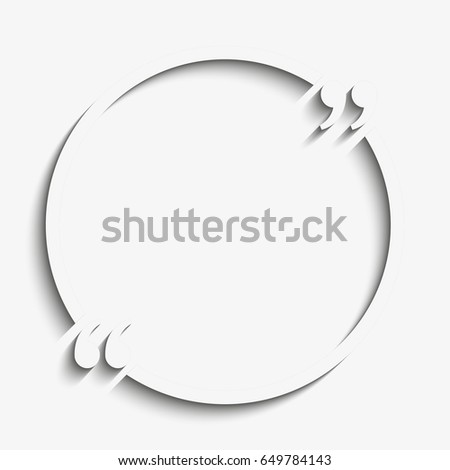 Paper Quote Blank Template Quote Circle Stock Illustration - Business card sheet template