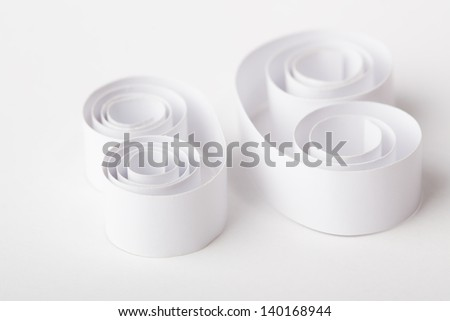 Paper Roll on Background