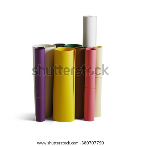 Paper roll Sewing isolated on light background