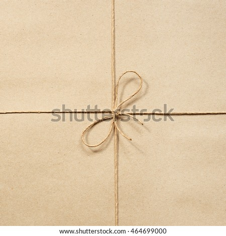 Paper rope, knotted at the wrapping paper beige