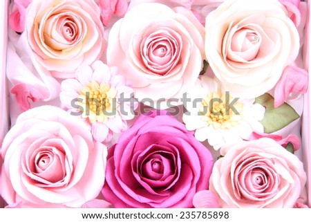 Paper roses background - stock photo