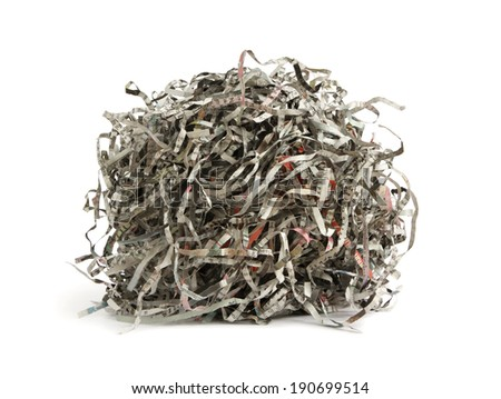 Paper scrap of newspaper isolated on white background - stock photo