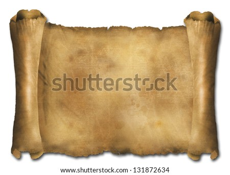 Paper scroll - stock photo