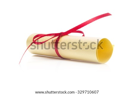 Paper Scroll  Isolated on White Background