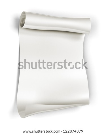 Paper scroll on white background