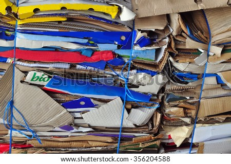 Paper separate, waste disposal old - stock photo