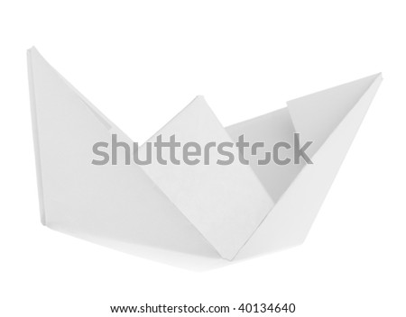 paper ship isolated on white background