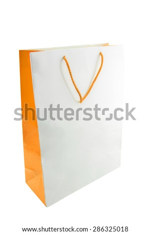 paper shopping bag isolated. - stock photo