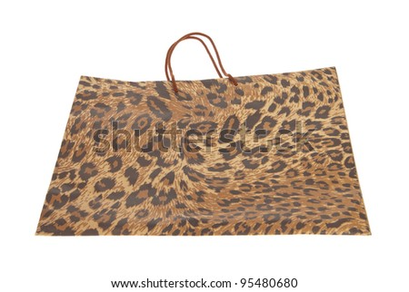 paper shopping bags with leopard or jaguar pattern